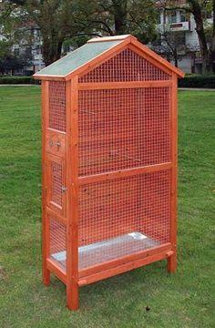Een dierenspeciaalzaak met een u Bird Cage Design, Diy Bird Cage, Diy Parakeet Cage, Budgie Cages, Large Bird Cages, Bird Aviary, Wood Bird, Budgies, Chickens Backyard