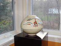 BERNARD LEACH / RARE LARGE DECORATED VASE Antique Pottery, Pottery Art, Design Repeats, Copper Red, Porcelain Ceramics, Ceramic Artists, Snow Globes, Stoneware, Floral Design