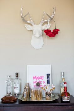 bar cart styling via