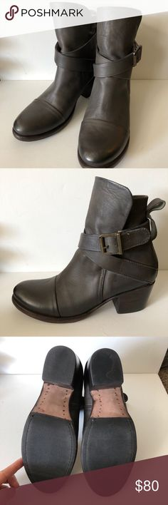 Grey booties Short boots by Sutro SF. Handmade in San Francisco, it is  genuine 7c9efd375499