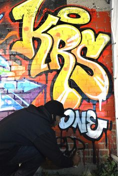 KRS-One graffiti