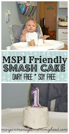 Do you need a dairy free soy free birthday cake for a smash cake? This MSPI Frie… Do you need a dairy free soy free birthday cake for a smash cake? This MSPI Friendly smash cake is delicious, wholesome, and milk soy protein intolerance safe! Smash Cake Recipes, Cake Smash, Dairy Free Recipes, Baby Food Recipes, Family Recipes, Drink Recipes, Dessert Recipes, Dairy Free Birthday Cake, Cake Birthday