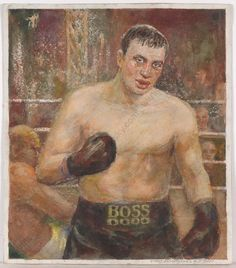 Boxing paintings - see both watercolors on our website - by Fedor Ivanovich Zagorodnyuk, who was a well-known portrait, landscape and genre painter and graphic artist, member of the Ukrainian Artist Union, with regular participation in all local, provincial and republican exhibitions.  #FineArt #artforsale #2000s Soviet Socialist Realism #russianart Boxing Posters, Socialist Realism, Russian Art, 2000s, Exhibitions, Online Art, Watercolors, Boxer, Original Art
