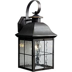 Sonoma 1 Light 16 Black Twin Pack Outdoor Wall Light At