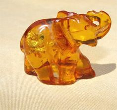 Elephant of AMBER From the Baltic Sea by SandCastleGems on Etsy