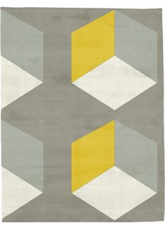 cubizzmo no. 2 rug by second studio in yellow