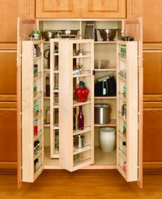 Buy the Rev-A-Shelf Natural Direct. Shop for the Rev-A-Shelf Natural Series Tall Swing Out Pantry Cabinet Organizer Set with Hardware and save. Pantry Storage, Kitchen Storage, Pantry Closet, Pantry Doors, Armoire Pantry, Kitchen Cabinet Design, Kitchen Pantry, Diy Kitchen, Pantry Cabinets