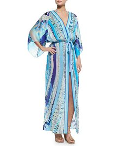 Printed Tie-Waist Caftan Coverup by Emilio Pucci at Bergdorf Goodman.