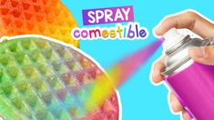 Cómo hacer spray comestible casero de cualquier color ~ Craftingeek