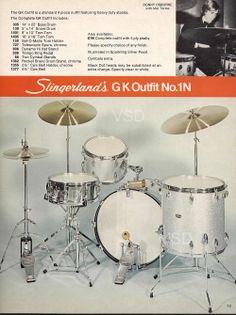 From 1977-1978 Slingerland Drum Catalog: GK Outfit with drummer Donny Osborne