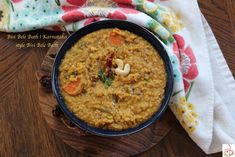 Besi Bele Bath is very popular dish, native to Mysore Karnataka. Bath Powder, Tamarind Paste, Indian Food Recipes, Ethnic Recipes, Pressure Cooking, The Dish, Lentils, Cooking Time, Cooker