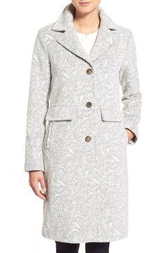 Eliza J Jacquard Reefer Coat Old World, Suit Jacket, Bring It On, Nordstrom, Shirt Dress, Elegant, My Style, Coat, Pattern