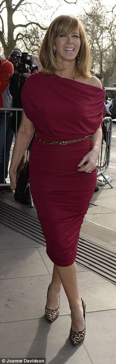 Vibrant: TV presenters Emma Willis (L) andKate Garraway (R) also brought some glamour to ...