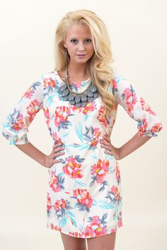 EVERLY:Floral of the Story Tunic