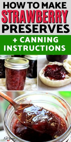 Learn how to make your own strawberry preserves with this super simple strawberry preserves recipe (includes canning directions!) This easy strawberry preserves recipe can use fresh strawberries or frozen and it's simple to make and easy to can in a water bath canner