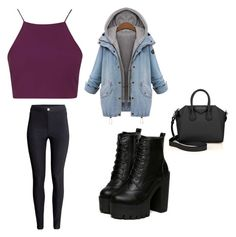"""""""Untitled #295"""" by sophia-solzbacher on Polyvore featuring Topshop, H&M, Givenchy and Amaya"""