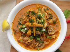 Seafood medley Tom Yum soup