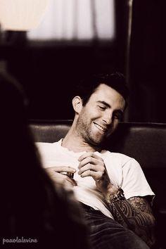 Adam Levine great smile....