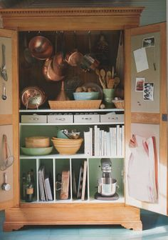 Turn An Old Armoire Into Pantry Space
