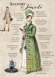 "Happy Birthday, Jane Austen, born 16 December died 18 July 1817 (via turtledoves etsy shop) ""Anatomy of a Janeite? Elizabeth Gaskell, Elizabeth Bennet, Charlotte Bronte, Regency Fashion, 1900s Fashion, Vintage Fashion, Winchester, Bronte Sisters, Jane Austen Books"