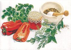 Watercolour inspiration - food postcard