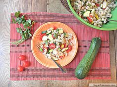 Healthier Italian Pasta Salad