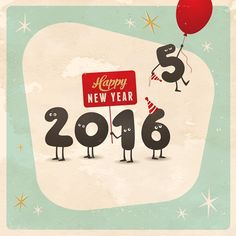 Vintage style funny greeting card - Happy New Year 2017 - Editable, grunge effects can be easily removed for a brand new, clean sign. Happy New Year 2016, New Years 2016, Funny Greetings, Funny Greeting Cards, Digital Creative Agency, Holiday Images, New Year Wishes, Vector Photo, Illustrations