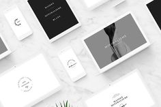 50 Minimal Fashion Brand Logos by T E M P L Y on creativemarket,graphic design resources, templates, pre made logos,