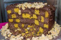 Bolo Xadrez de Canoura com Chocolate