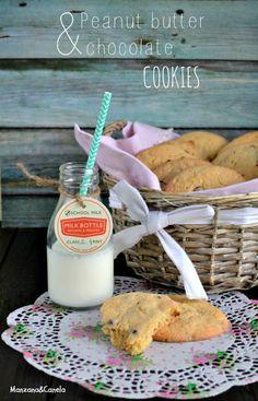 Galletas de mantequilla de cacahuete y chips de chocolate