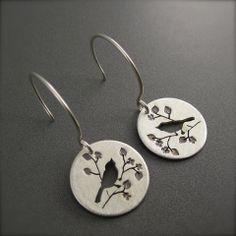 Little Silver Spring Bird on a Branch Earrings – Beth Millner Jewelry