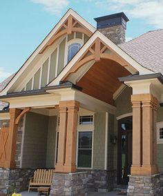 Sage color siding white soffit and fascia with black for Nichiha siding colors