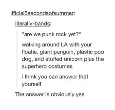 I think we may have a new definition of punk rock, a new, improved, and awesome one!!