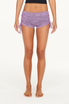 Mia Brazilia - Cinch Shorts - Heather Lavender -  - Juja Active