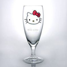 Hello Kitty Swarovski Decorated Pilsner Beer Glass