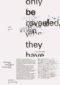 Lee Kyeongsoo (Workroom), Stray Birds: Letter Practice,...