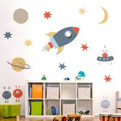 Are you interested in our space theme wall sticker set? With our nursery wall stickers you need look no further.