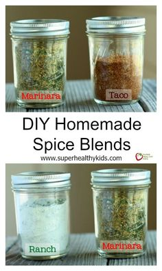 DIY Homemade Spice Blends - Take control with these homemade blends! http://www.superhealthykids.com/diy-homemade-spice-blends/