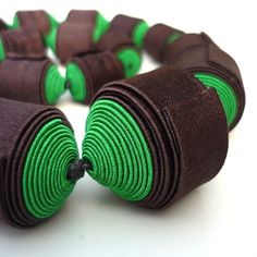 TEXTILE JEWELLERY by Cecile Bertrand, via Behance