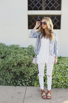 How To Style White Jeans   30+ Outfit Ideas