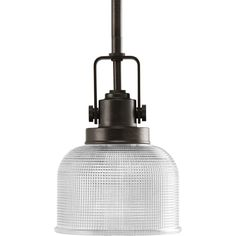 Shop Progress Lighting Archie 5.75-in W Venetian Bronze Mini Pendant Light with Clear Glass Shade at Lowes.com