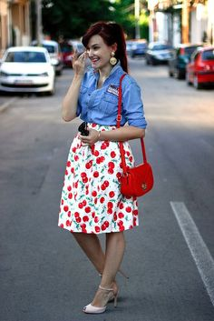 Roşii cherry (Thrill of the heel) Camo Skirt, Dress Skirt, Skirt Outfits, Cute Outfits, Animal Print Skirt, Leopard Skirt, Stripe Skirt, Printed Skirts, Fashion Outfits