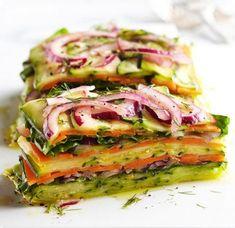 Zeleninový sendvič - DIETA.CZ Raw Food Recipes, Vegetable Recipes, Salad Recipes, Vegetarian Recipes, Cooking Recipes, Healthy Recipes, Vegan Vegetarian, Cooking Tips, Dinner Recipes