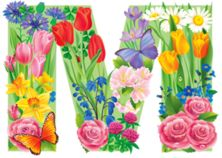 """Photo from album """"Цветочный"""" on Yandex. Minnie Png, Flower Alphabet, Timeline Covers, Class Projects, Alphabet And Numbers, Coloring For Kids, Colorful Flowers, Bunt, Flower Art"""
