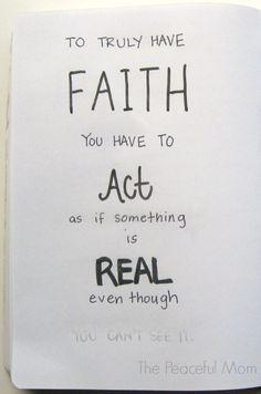 True Faith--The Peaceful Mom
