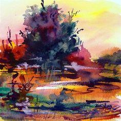 """Sunset landscape"" - Original Fine Art for Sale - © Mikko Tyllinen"