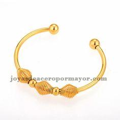 pulsera estilo especial dorado en acero inoxidable -SSBTG384050