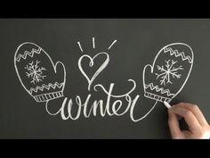 冬を楽しみながらチョークレタリング! 大人黒板おしゃれなチョークアートの描き方、
