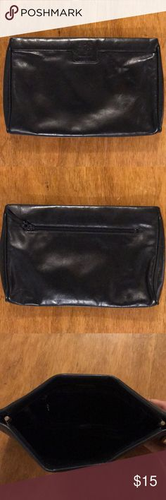 Anne Klein black leather purse. Anne Klein purse that can be used multiple ways. Black leather. Anne Klein Bags Clutches & Wristlets
