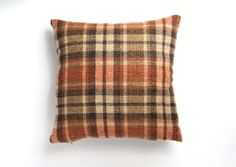 Tweed x Cushion Cover in Orange Orange Cushion Covers, Orange Cushions, Tweed, Tartan, Throw Pillows, Home, Design, Toss Pillows, Cushions